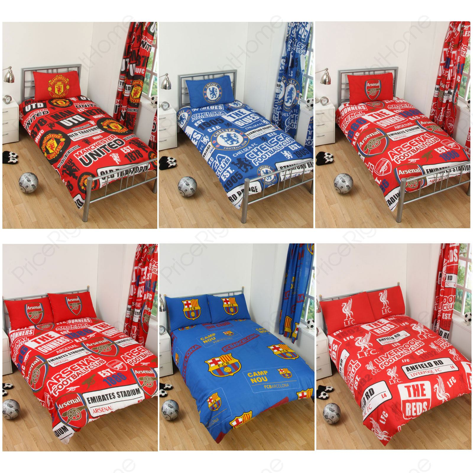 Football Team Single Amp Double Duvet Cover Sets Arsenal