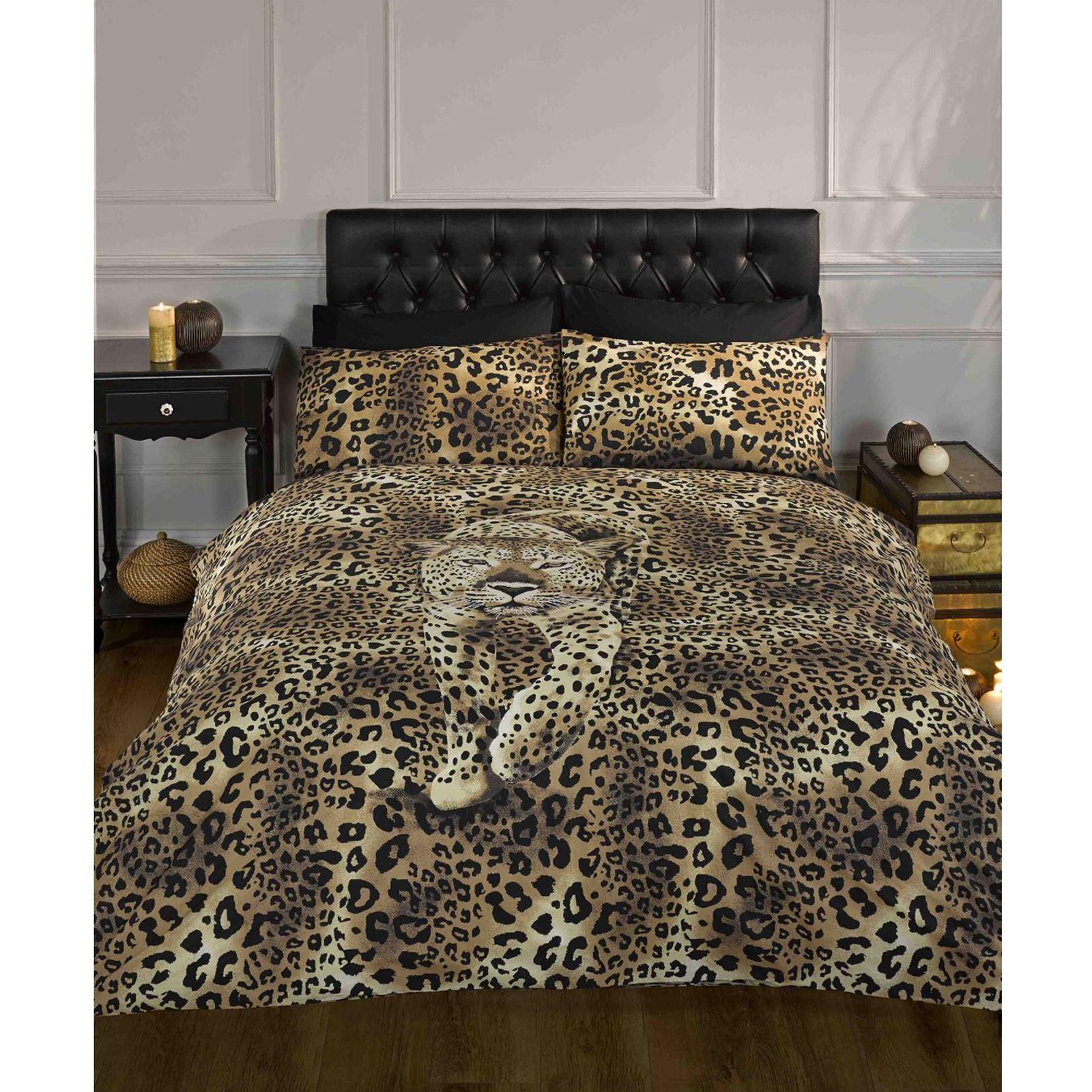Prowling Leopard Duvet Cover Bedding Set Single Double