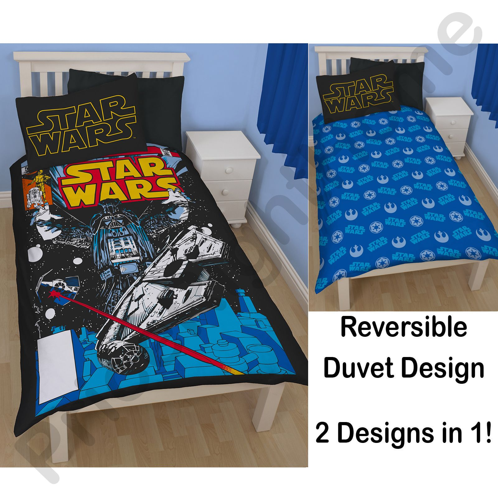 35e56209a93 STAR WARS DUVET COVERS BEDDING – SINGLE   DOUBLE SIZES – DARTH VADER ...