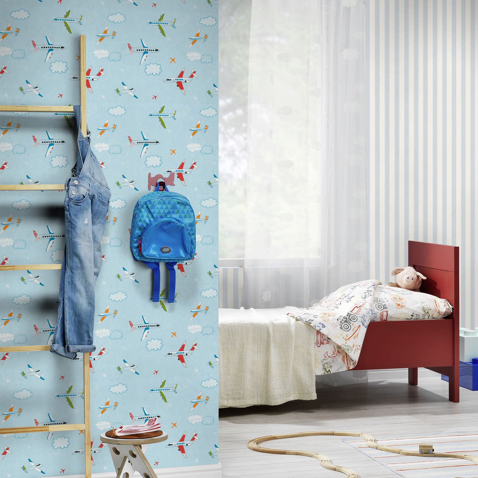 wallpaper borders for bedroom transport and vehicles themed wallpaper amp borders bedroom 17766