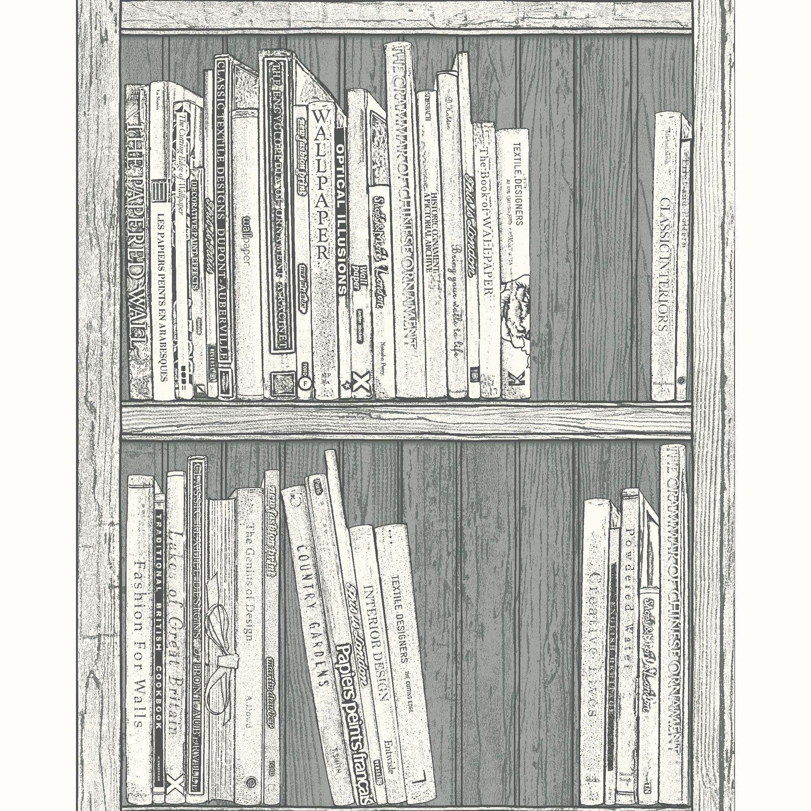 Papier Peint Motif Bibliotheque Differents Blanc Fonctionnalite