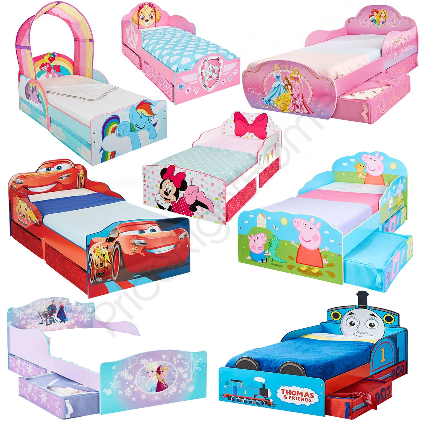 disney toddler bed with storage mattress cars peppa 17528 | e859e945 c253 44f5 9581 87b260204dd4