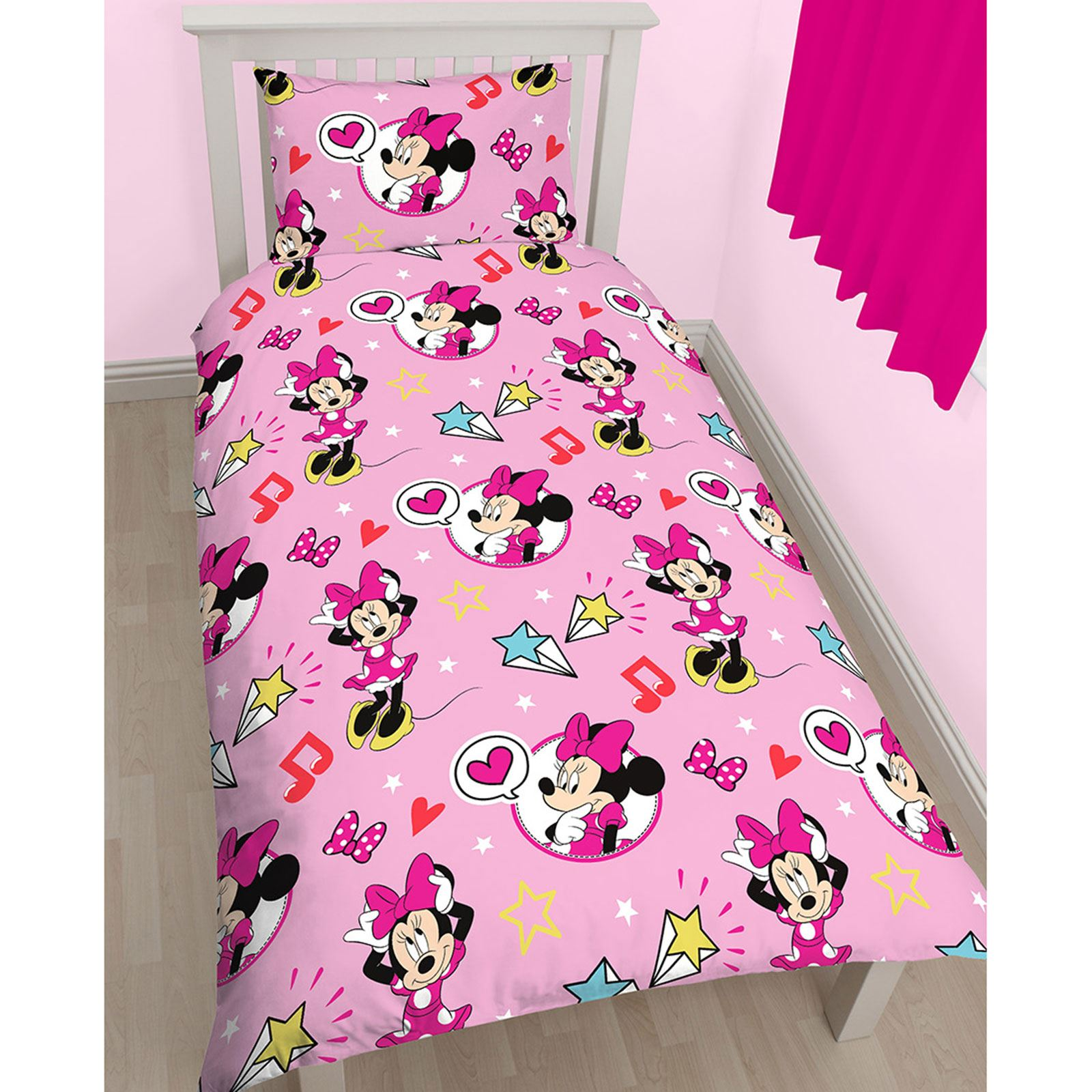 MINNIE-MOUSE-DUVET-COVERS-KIDS-GIRLS-BEDDING-SINGLE-DOUBLE-JUNIOR thumbnail 37