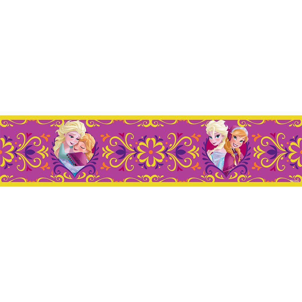 Girls Character Self Adhesive Wallpaper Borders Disney Frozen
