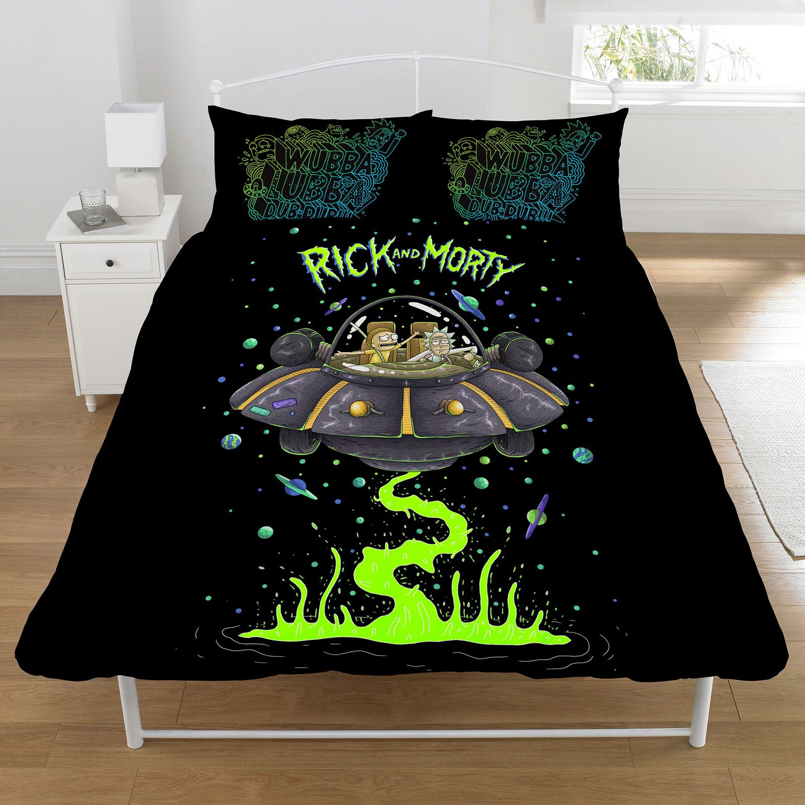 RICK AND MORTY DUVET COVER SET KIDS BEDDING SINGLE ...