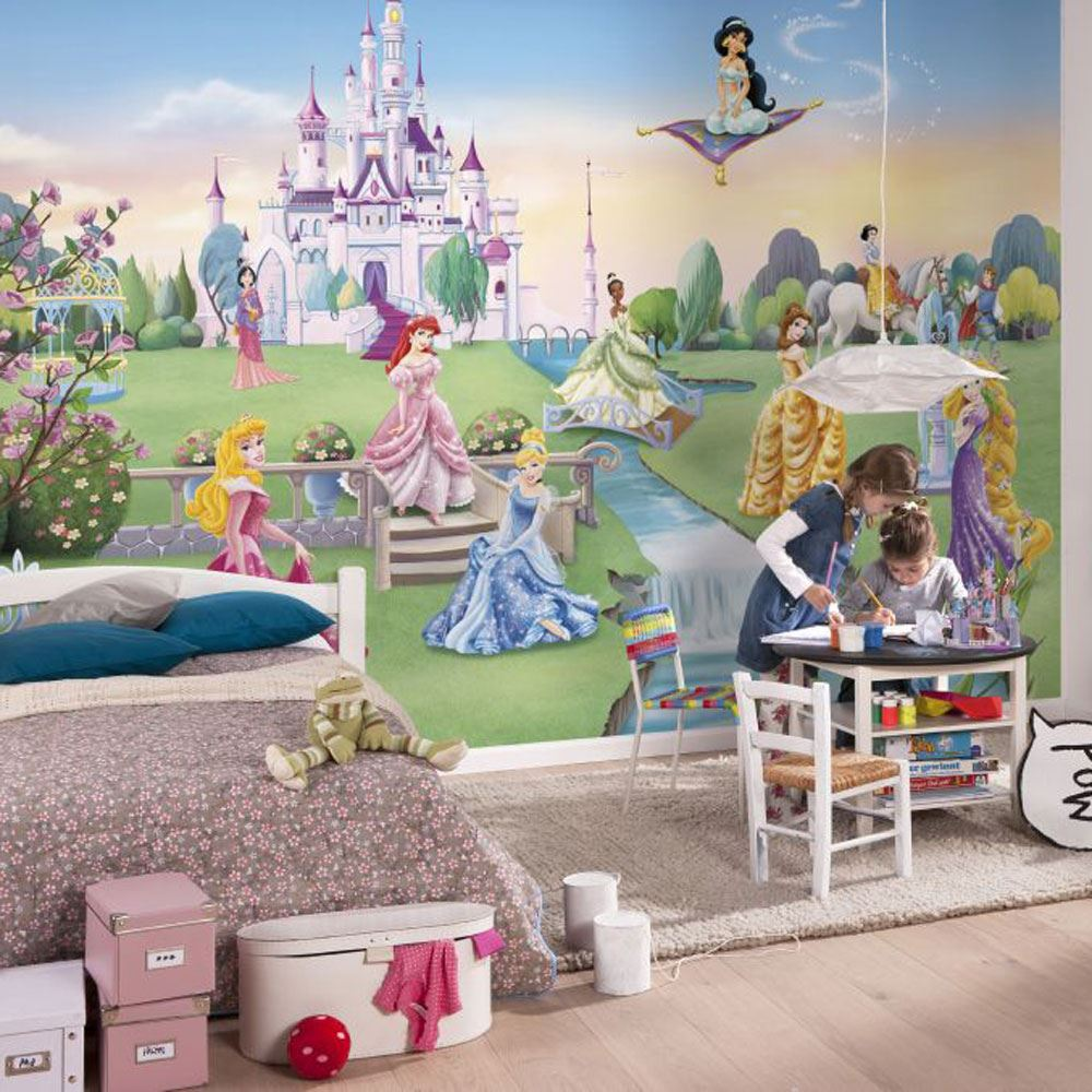 DISNEY PRINCESS Amp FROZEN WALLPAPER MURALS ANNA ELSA