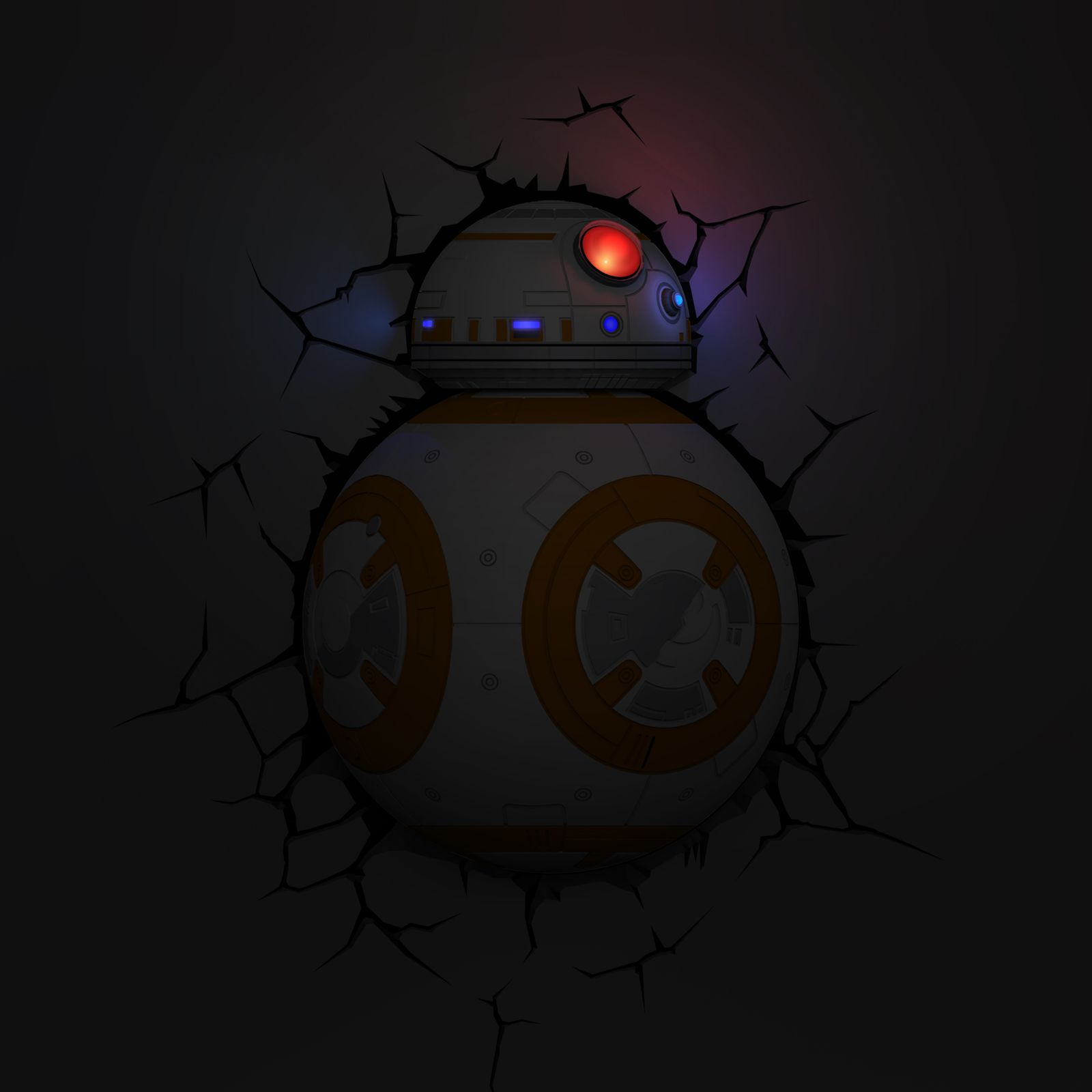 Star Wars Bb 8 3d Led Decor Wall Light Night Lamp With