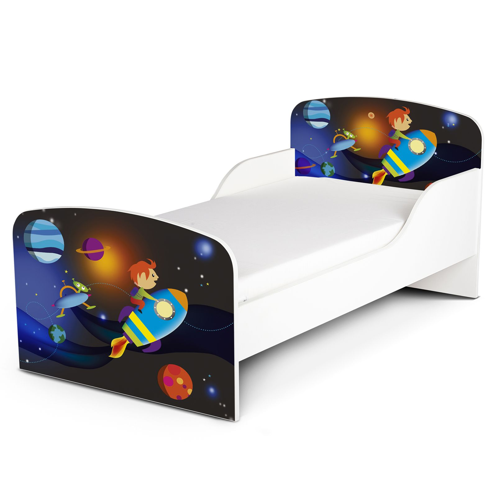 Space Rocket Mdf Toddler Bed New Outer Space Kids 753970350001 Ebay
