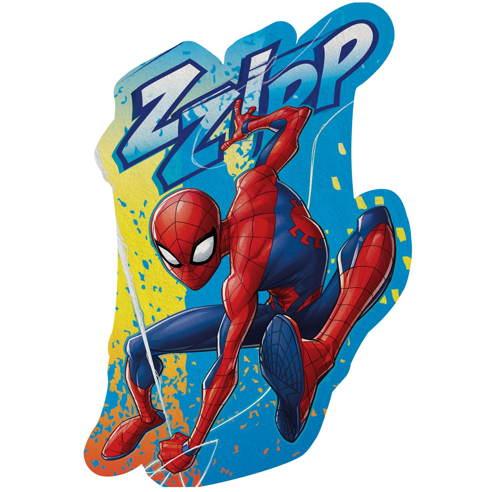 Red 80 x 120 cm Marvel Spiderman Kids Hooded Fleece Blanket