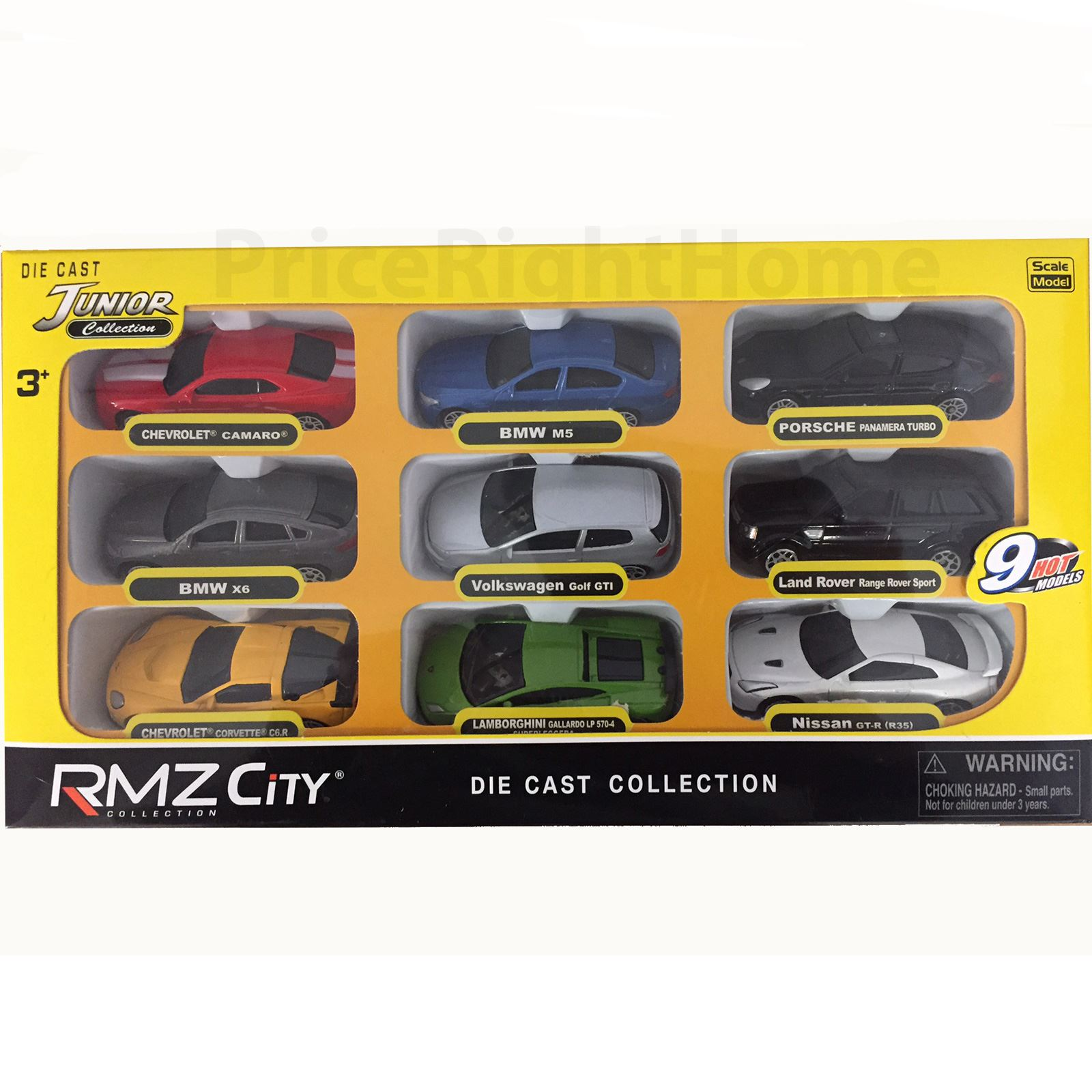 Rmz City Collection Set Of 9 Die Cast Cars Kids Toy Cars