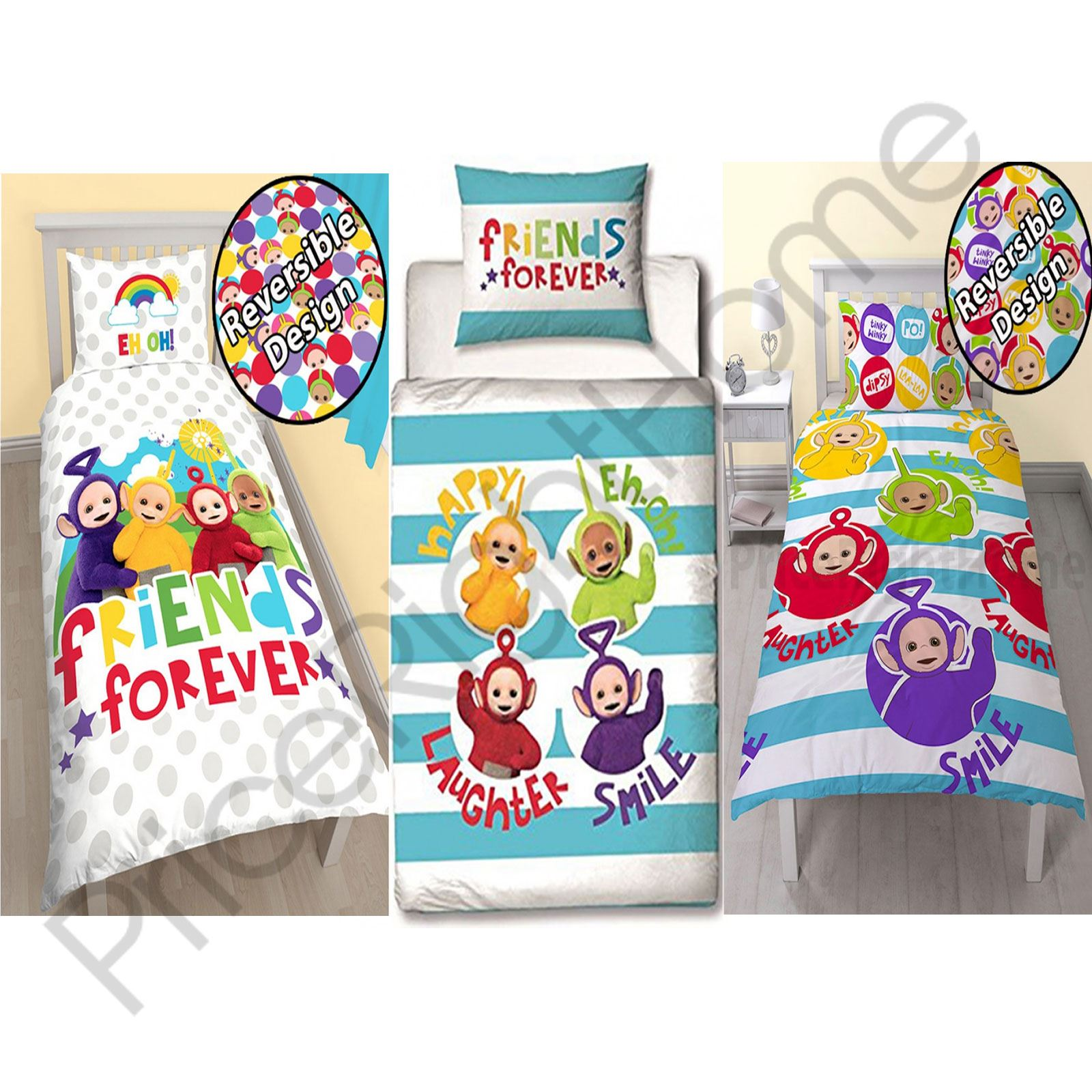teletubbies duver cover sets available in single and junior toddler bedding new - Toddler Bedding
