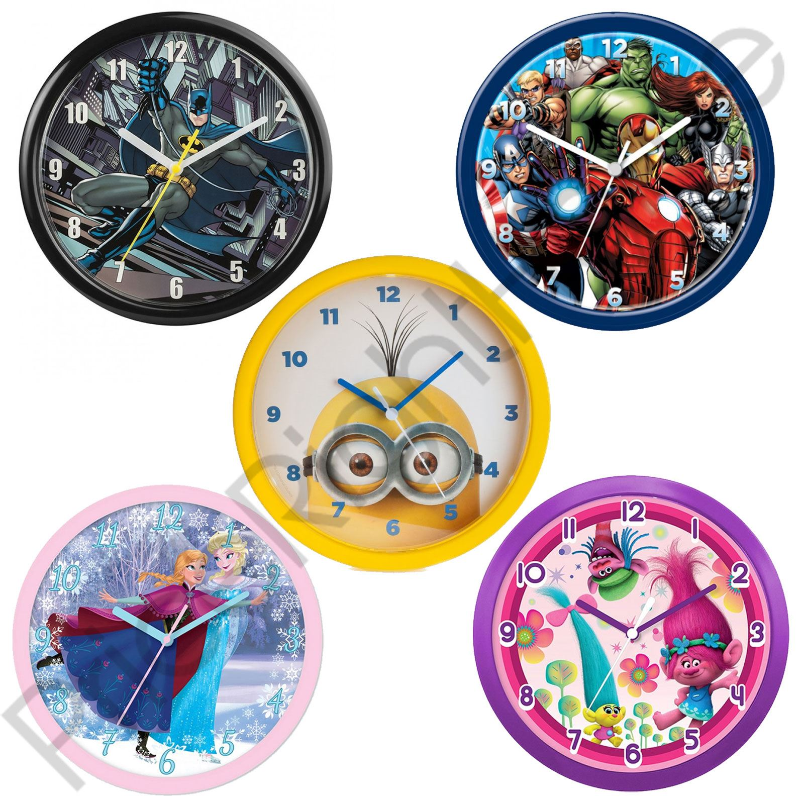 Childrens official character wall clocks spiderman avengers childrens official character wall clocks spiderman avengers batman more amipublicfo Images