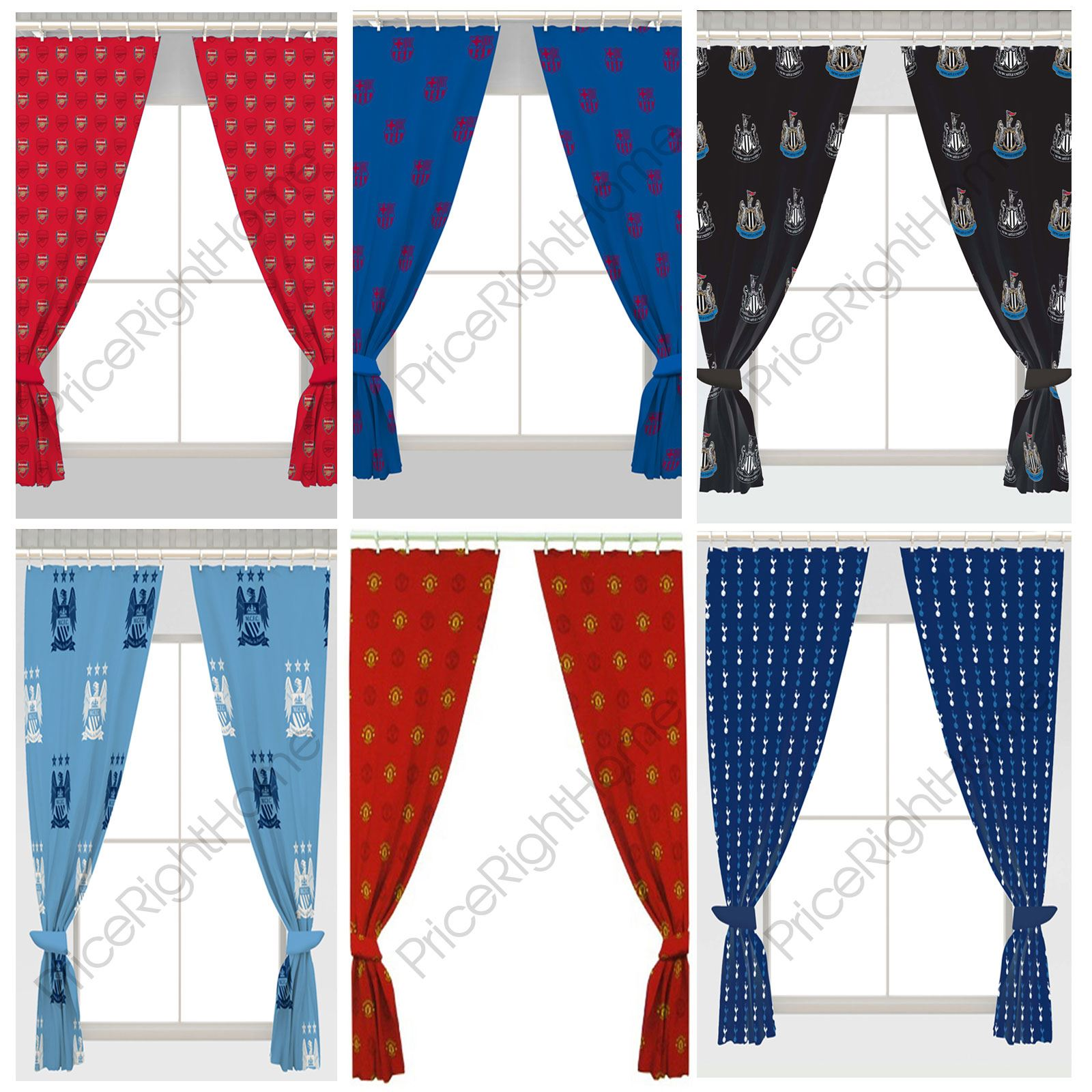 "FOOTBALL CURTAINS KIDS BOYS BEDROOM AVAILABLE IN 54"" & 72"