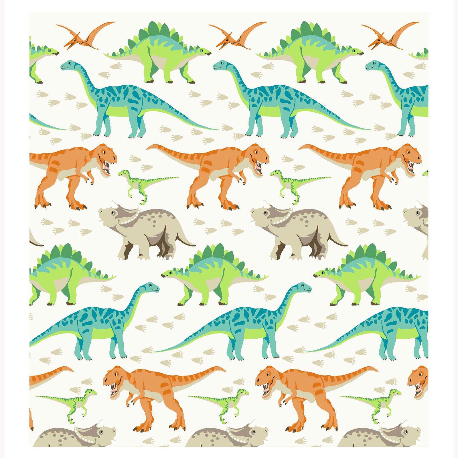 Dinosaures Monde 168cm X 183cm Doublure Rideaux+Embrasses Neuf