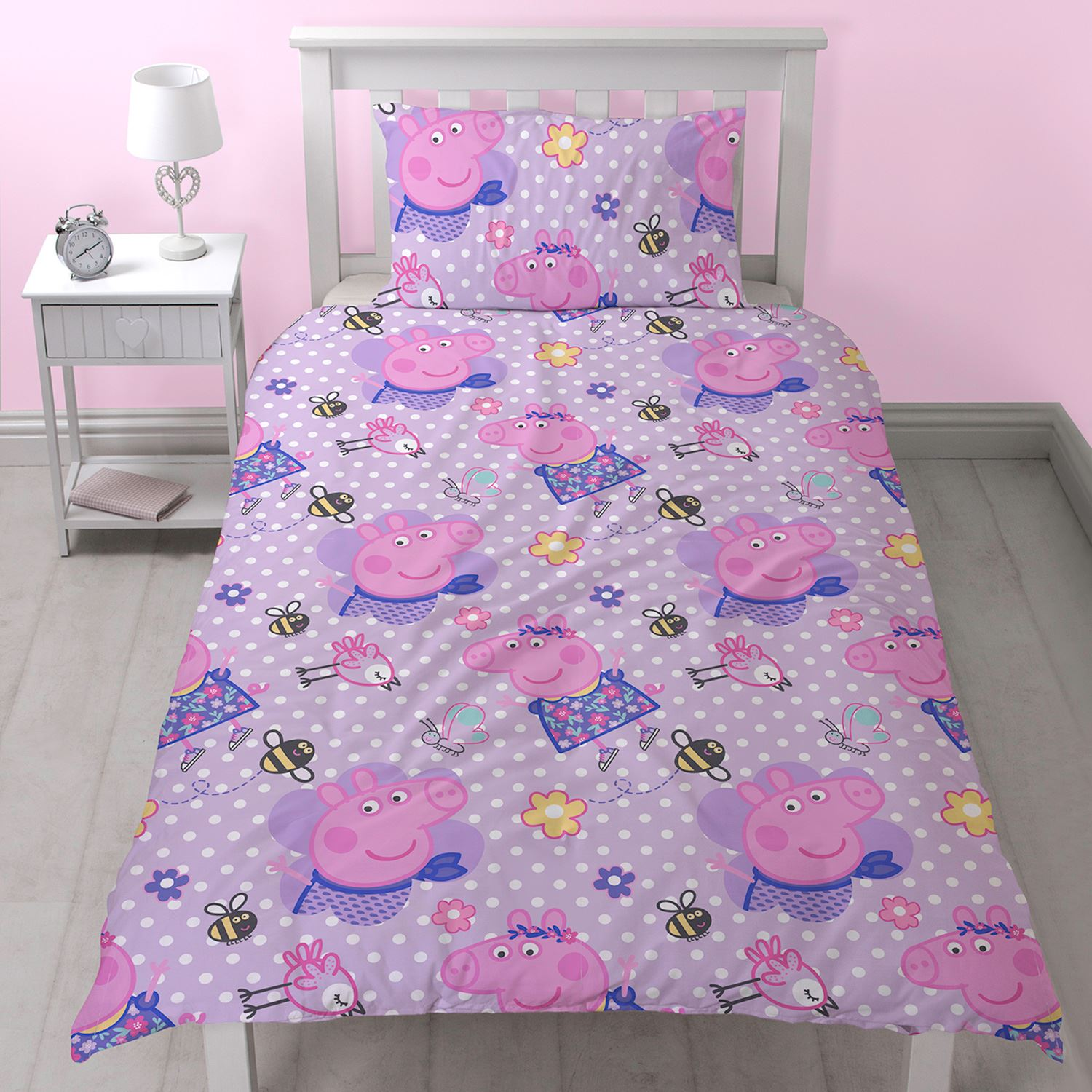 OFFICIAL PEPPA PIG DUVET COVERS SETS SINGLE DOUBLE FITTED ...