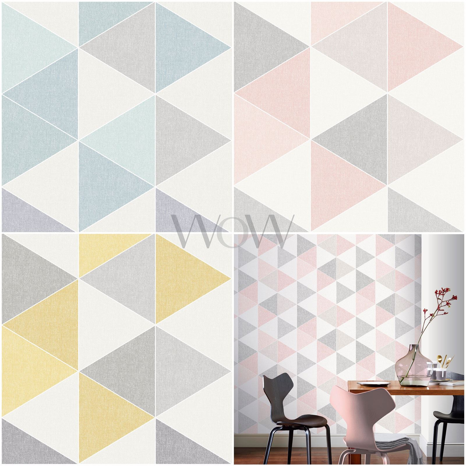 Arthouse Scandi Triangle Geometric Wallpaper Pastel
