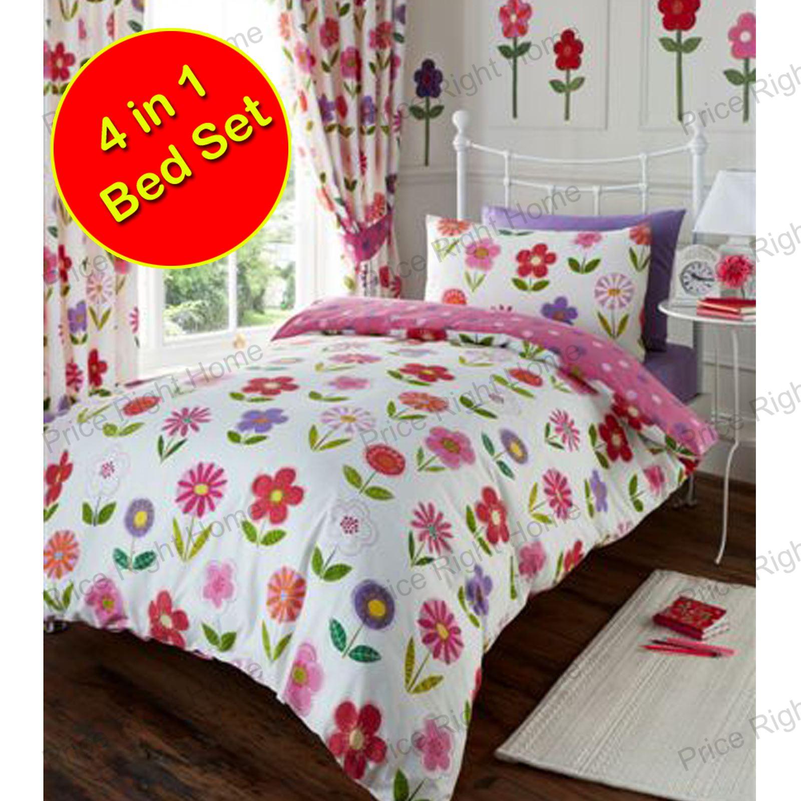 Junior Toddler Bedding Set Duvet Covers Quilt Pillow