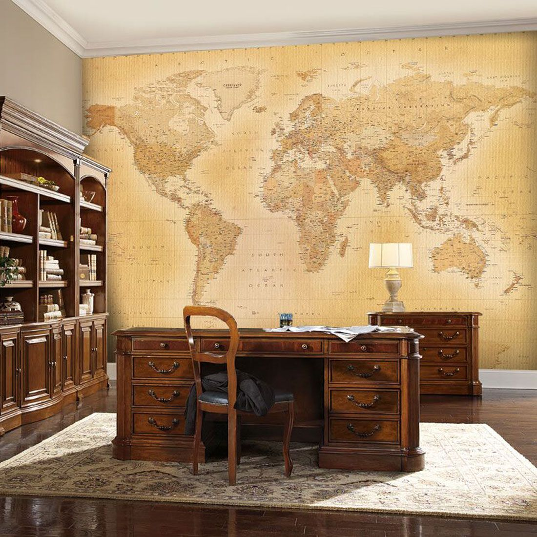 WORLD MAP WALL MURALS, 4 DESIGNS AVAILABLE, FEATURE WALL / OFFICE ...
