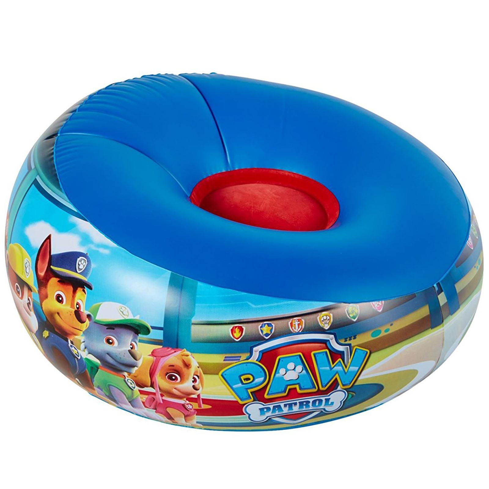 Kids Junior Lightweight Inflatable Chair Paw Patrol My