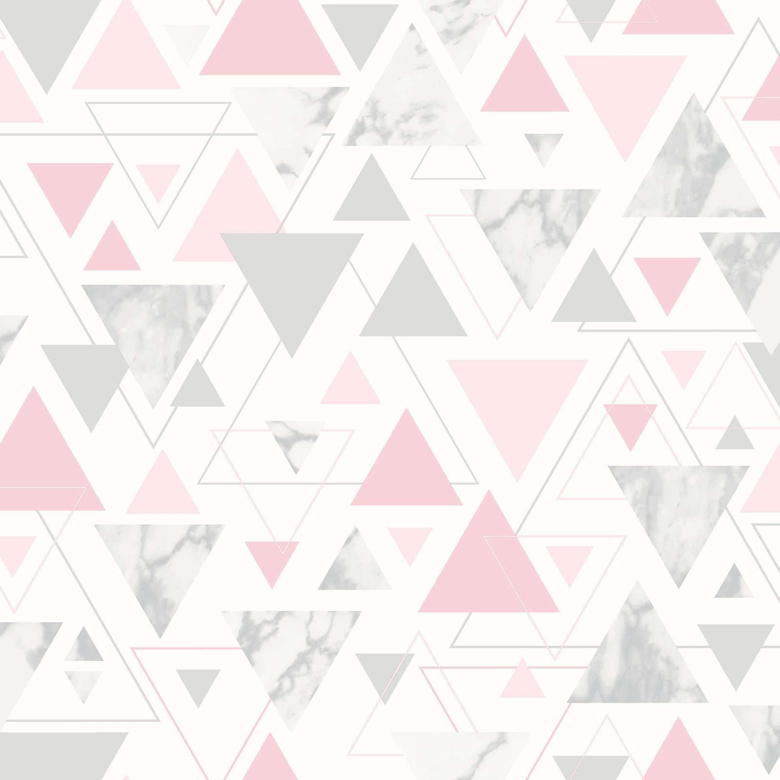 Details About Debona Chantilly Marble Geometric Triangle Wallpaper 5013 Pink Grey Pastel