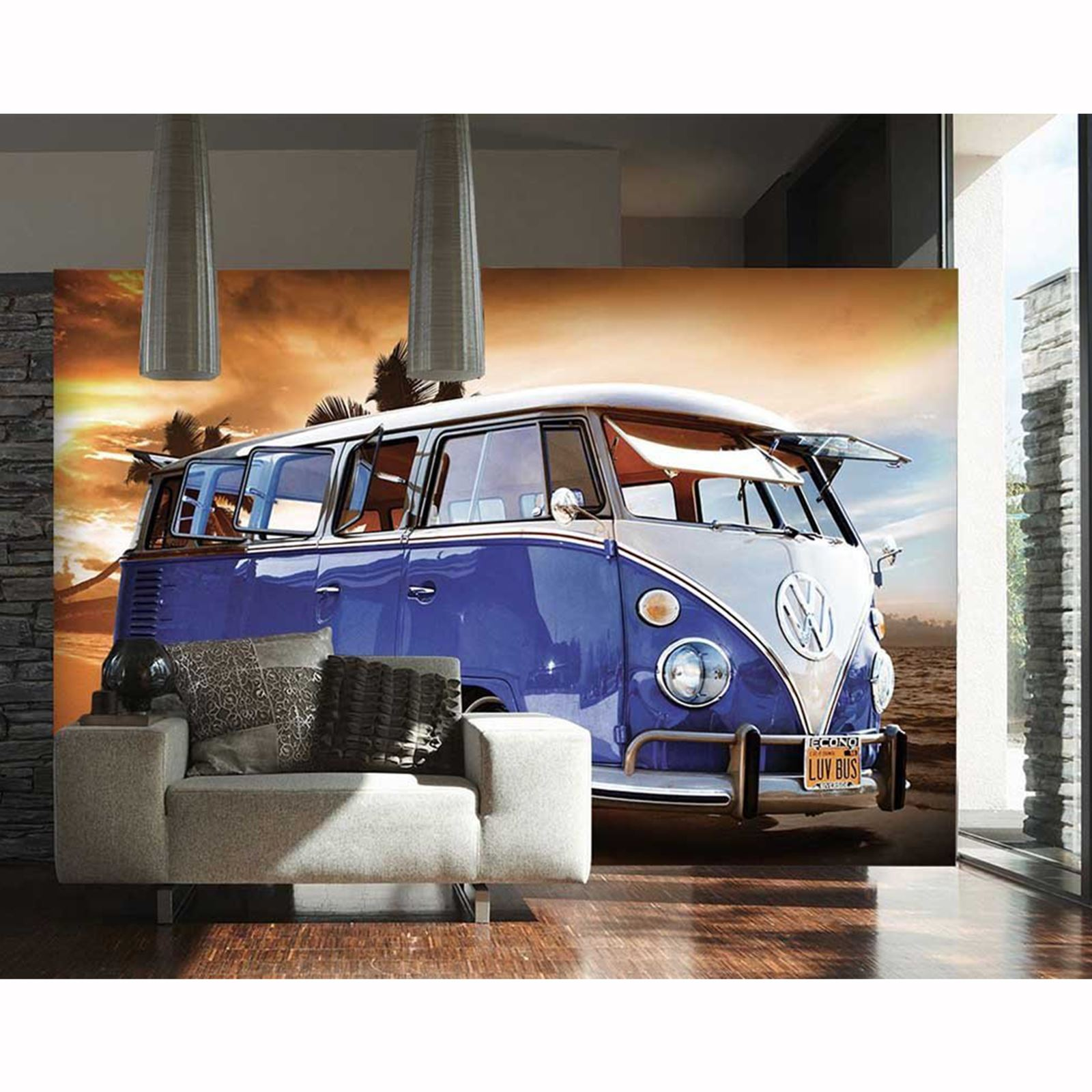 CAMPERVAN WALL MURAL 2 DESIGNS AVAILABLE NEW MODERN