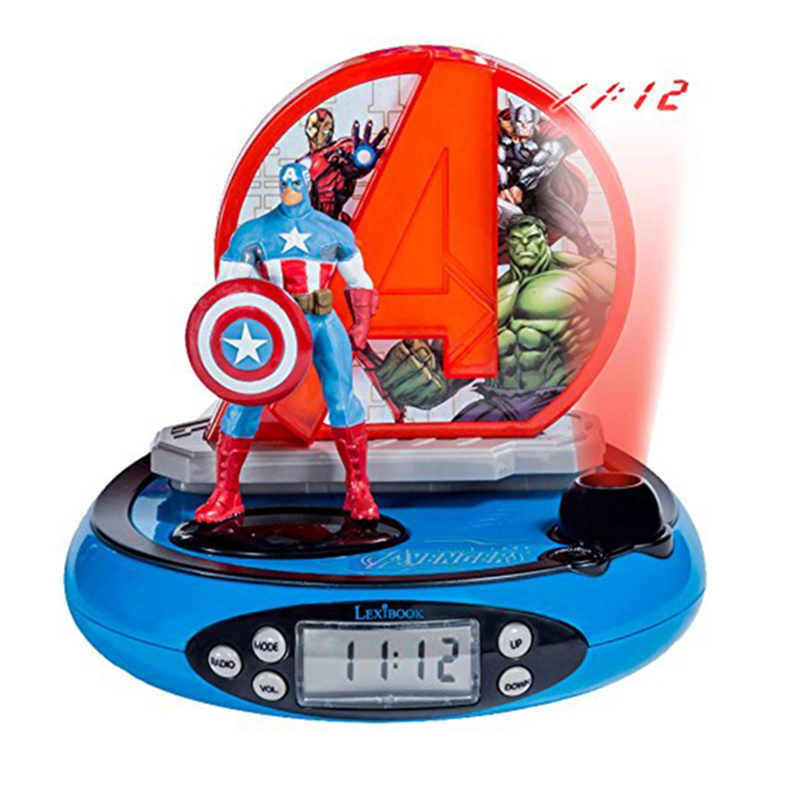 Character Radio Projector Alarm Clocks Kids Disney