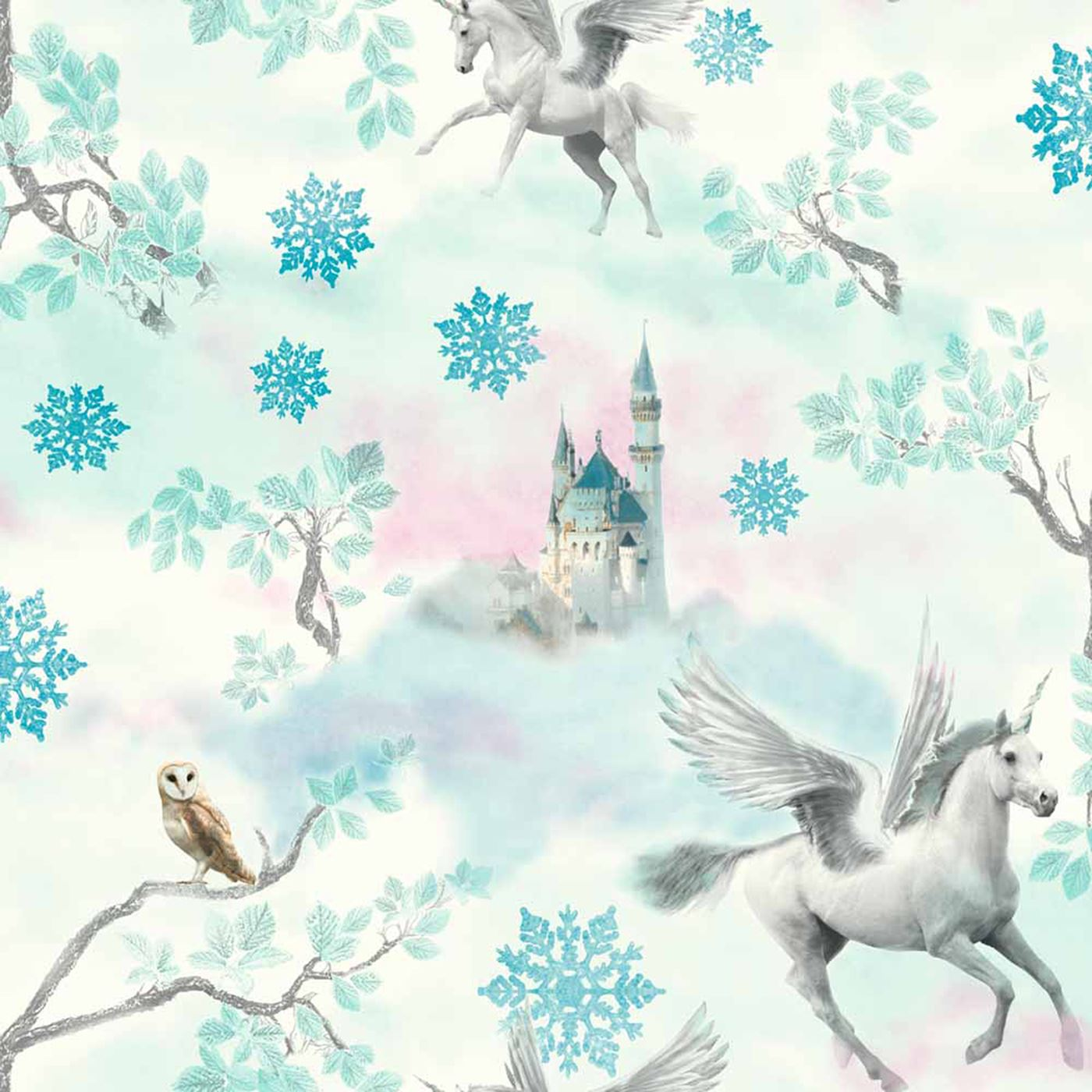 ARTHOUSE RAINBOW Amp FAIRYTALE UNICORN GLITTER WALLPAPER WHITE