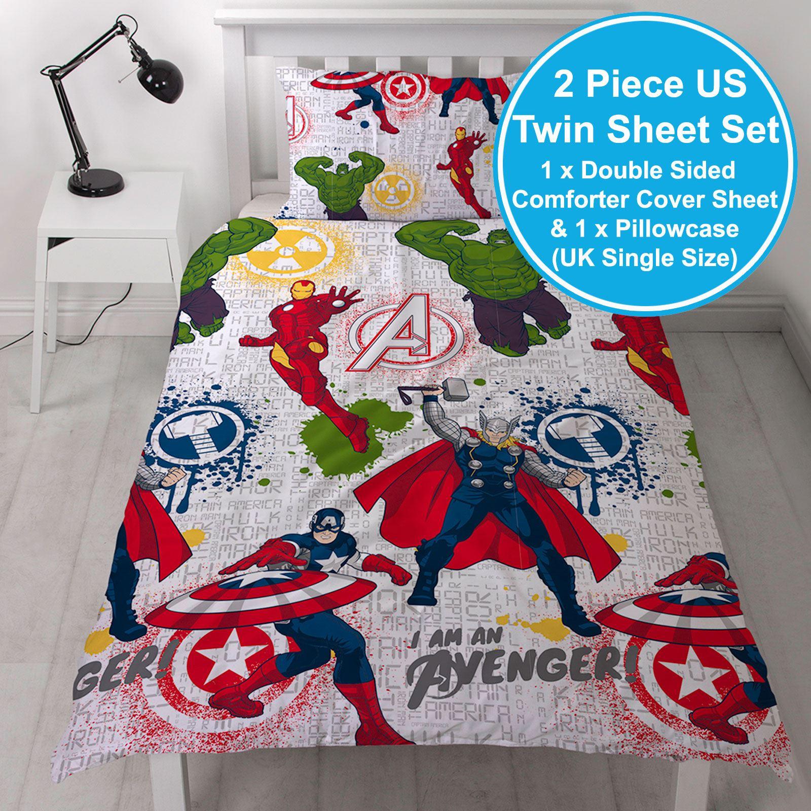 Avengers Camera Da Letto Copripiumino Set Di Tende Cuscino