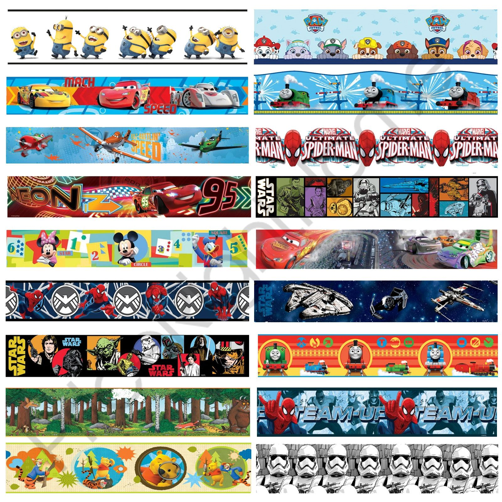 Kids Boys Wallpaper Borders Room Decor Disney Cars Star Wars