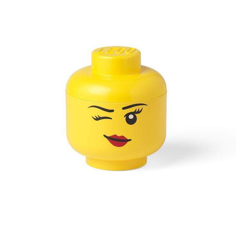 Small Yellow Lego Girl Storage Head