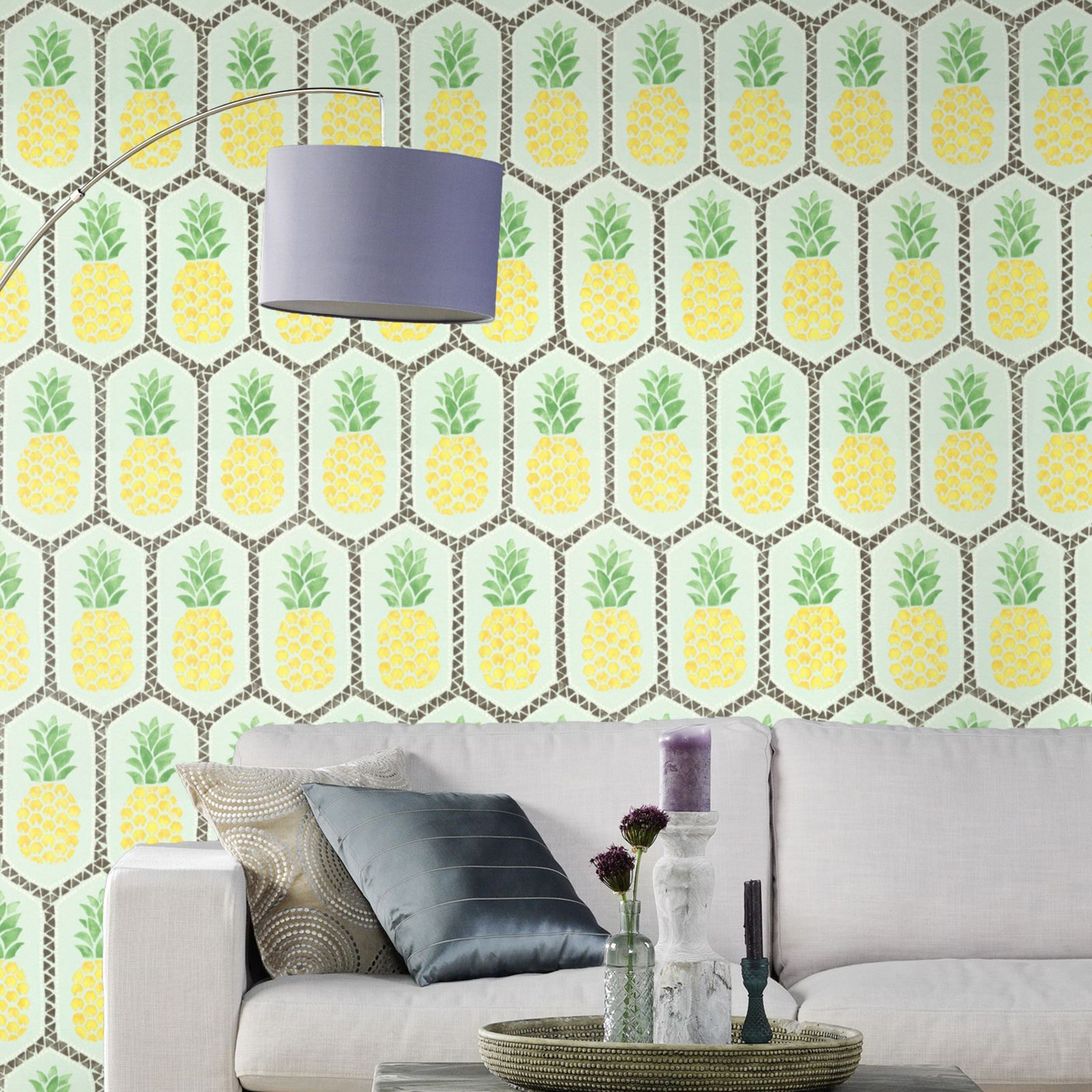 RASCH PINEAPPLE TEXTURED GEOMETRIC WALLPAPER - HOT PINK TEAL YELLOW ...