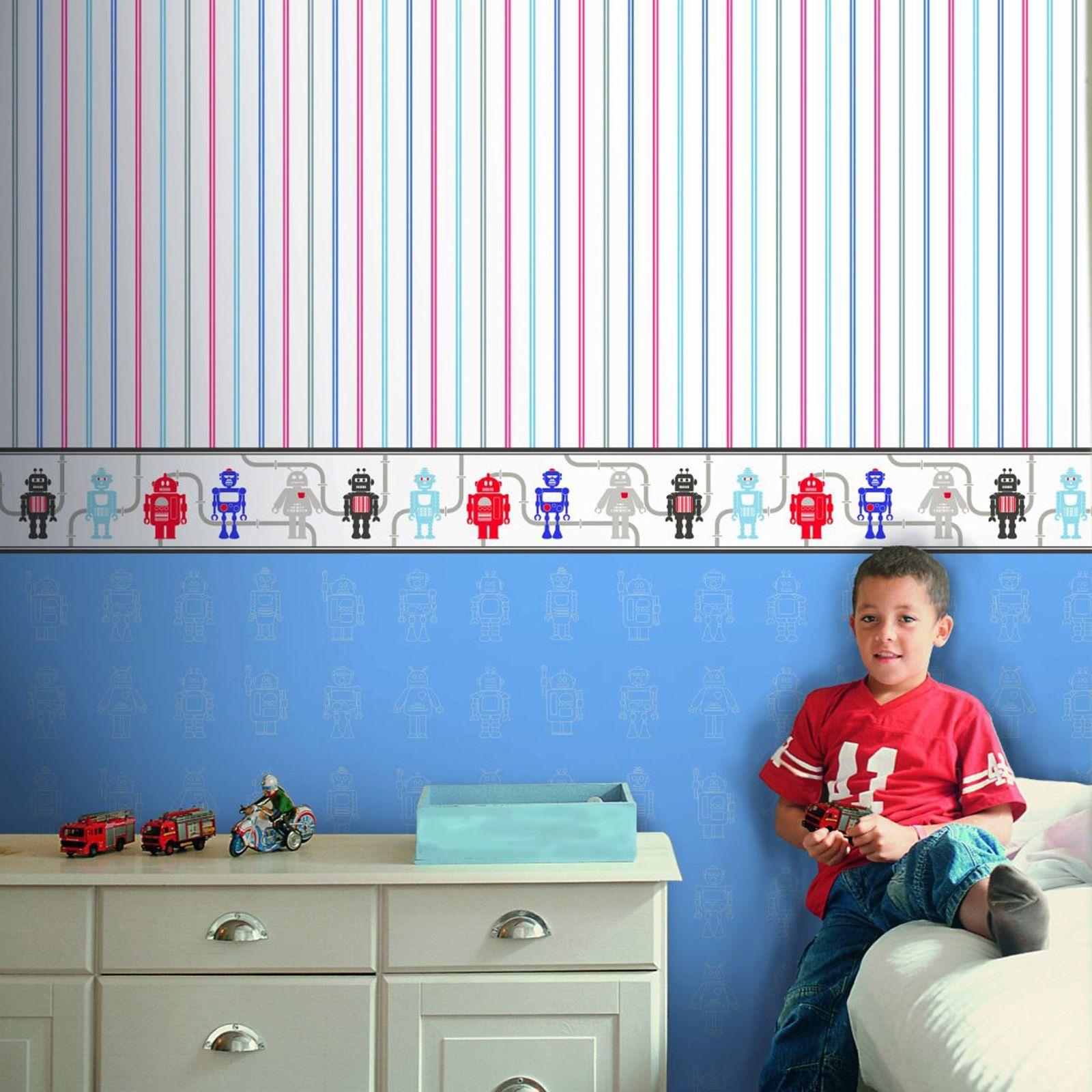 wallpaper cars bedroom borders wall themed itm decor kids dinosaur for space boys