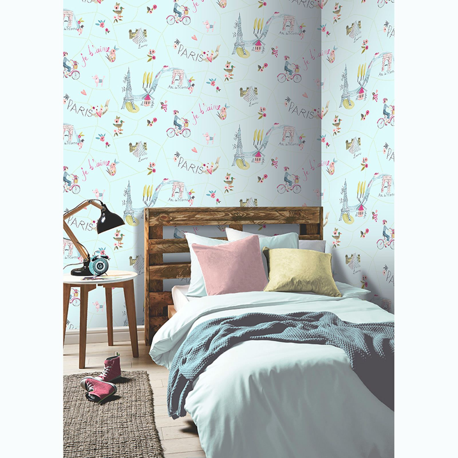 Paris With Love Wallpaper By Arthouse Glitter Highlight