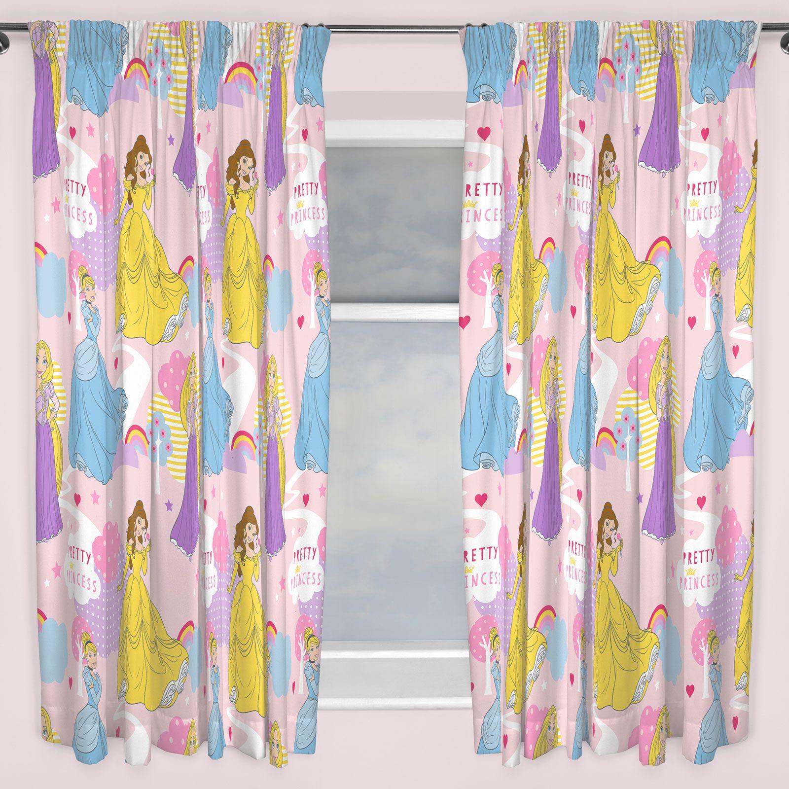 Disney Princess Enchanting Pink Childrens Kids 66x54 Ready Made