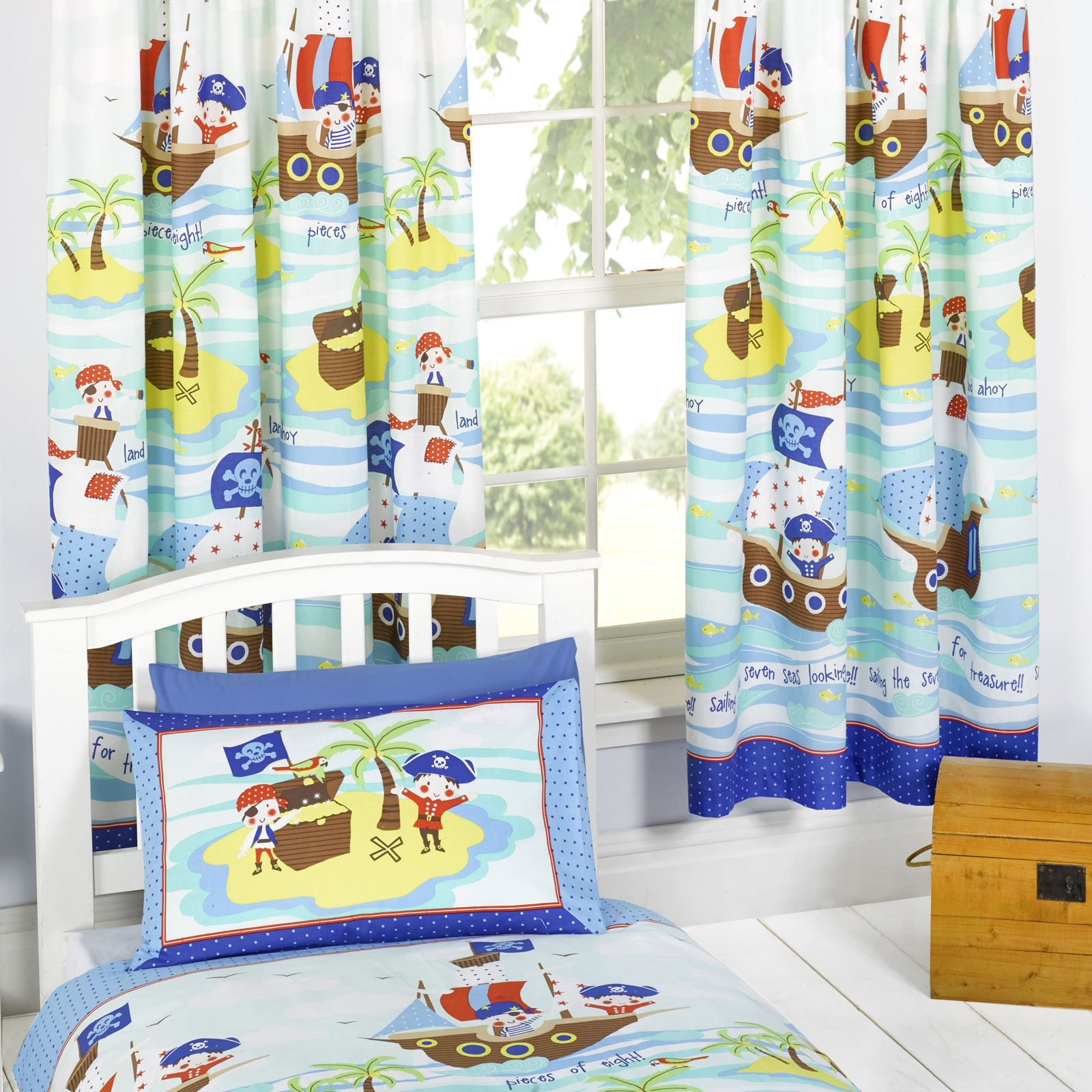 SEVEN SEAS PIRATES BEDDING + BEDROOM ACCESSORIES DUVET COVERS CURTAINS AND  MORE