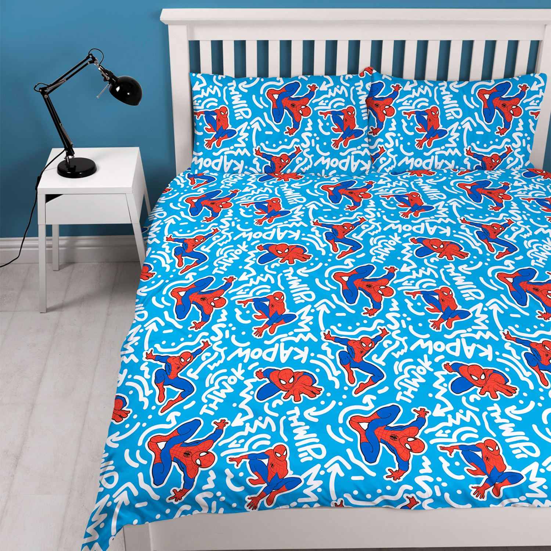 Spiderman Popart Bedroom Range Curtains Duvet Cover Set
