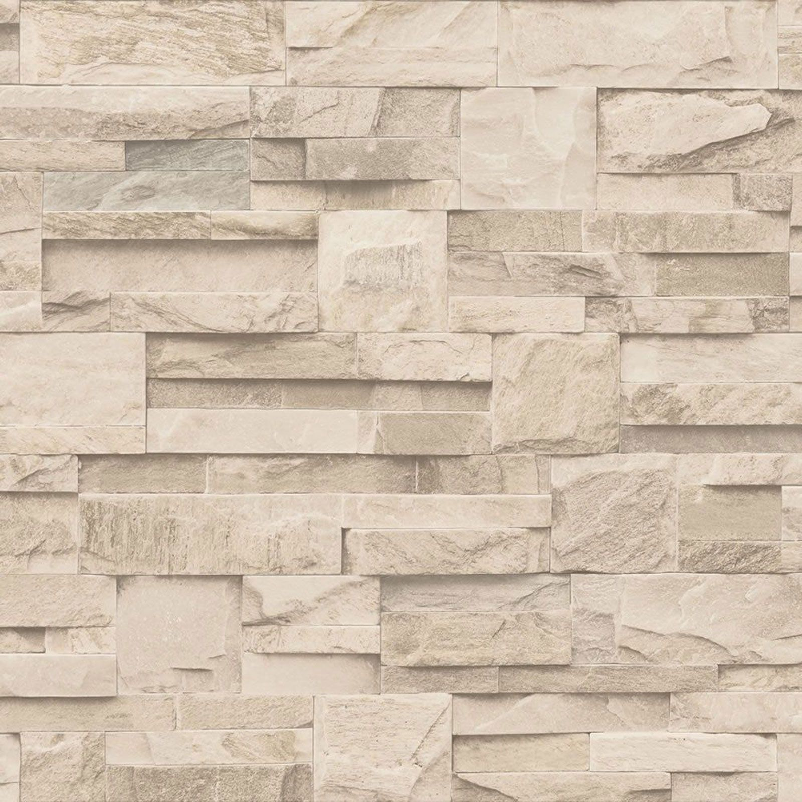 Muriva Slate Stone Wallpaper Natural Charcoal Amp Beige