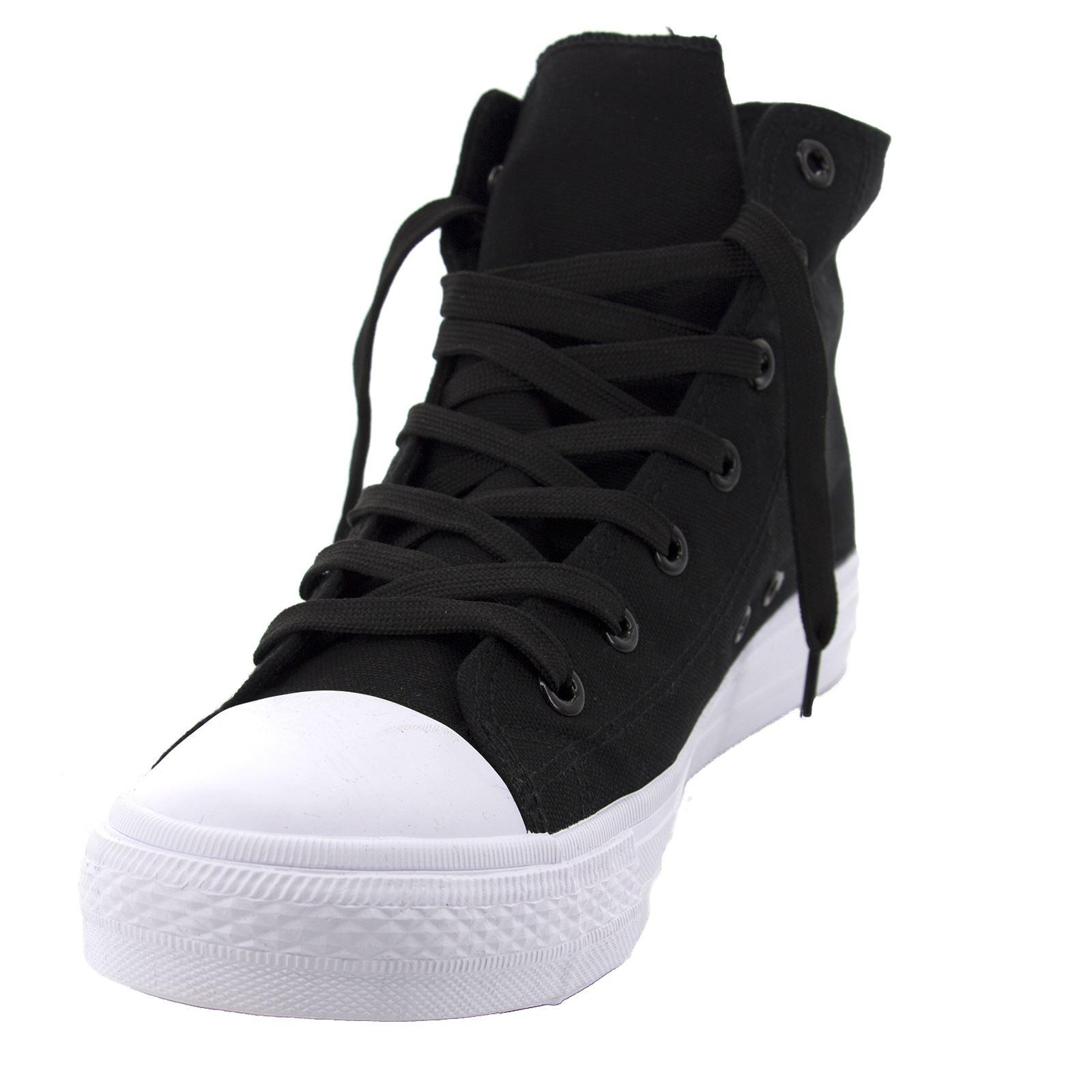 Scarpe da Ginnastica Uomo Donna Sneakers Alte Casual Comode Vari Colori Nero 43 TVaHjC