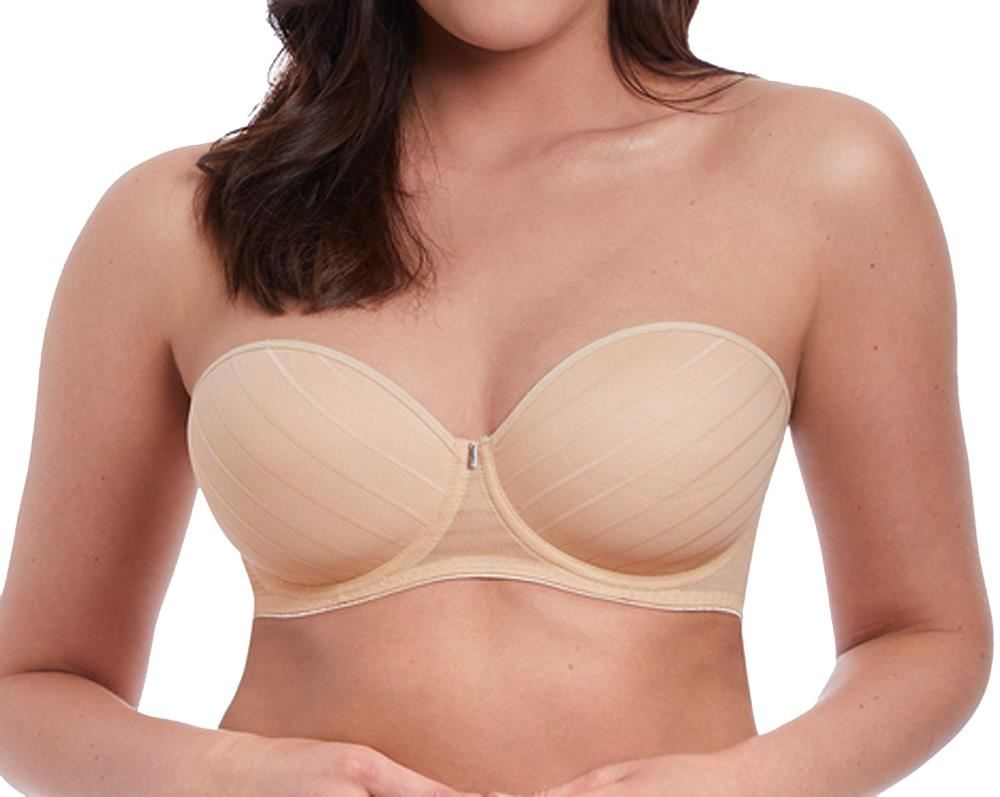 NUE 38FF CS Freya Deco AA4234 W Underwired Moulded Plunge Bra Nude