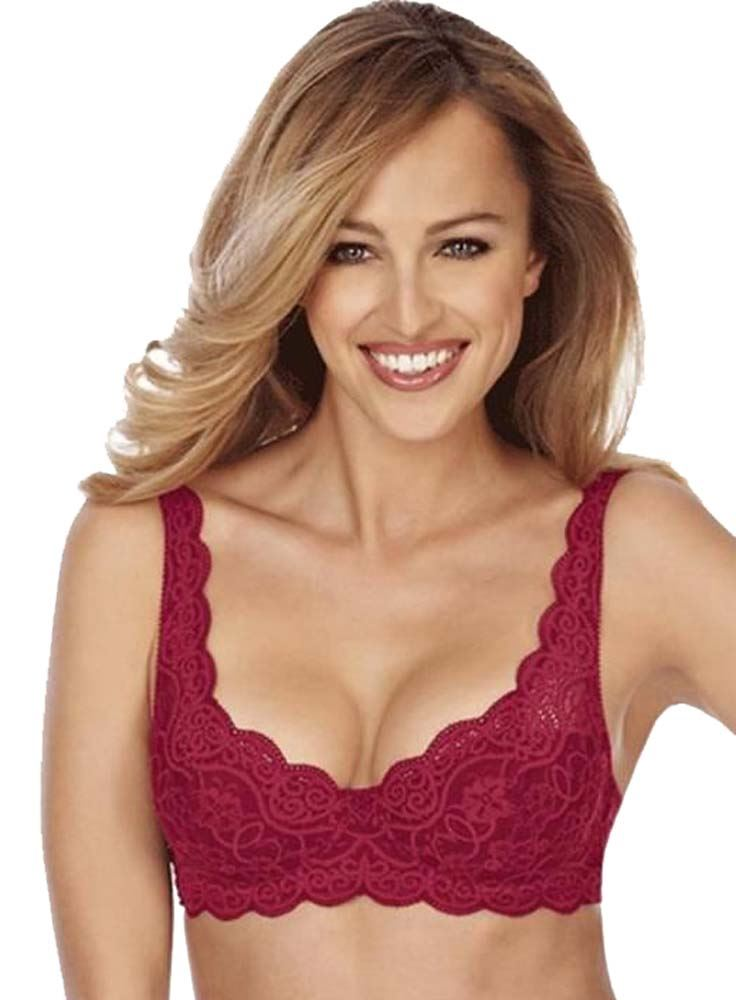 TRIUMPH AMOURETTE 300 WHP WIRED PADDED HALF CUP BRA Pacha Red (OQ ... 6f56ad65a1a0
