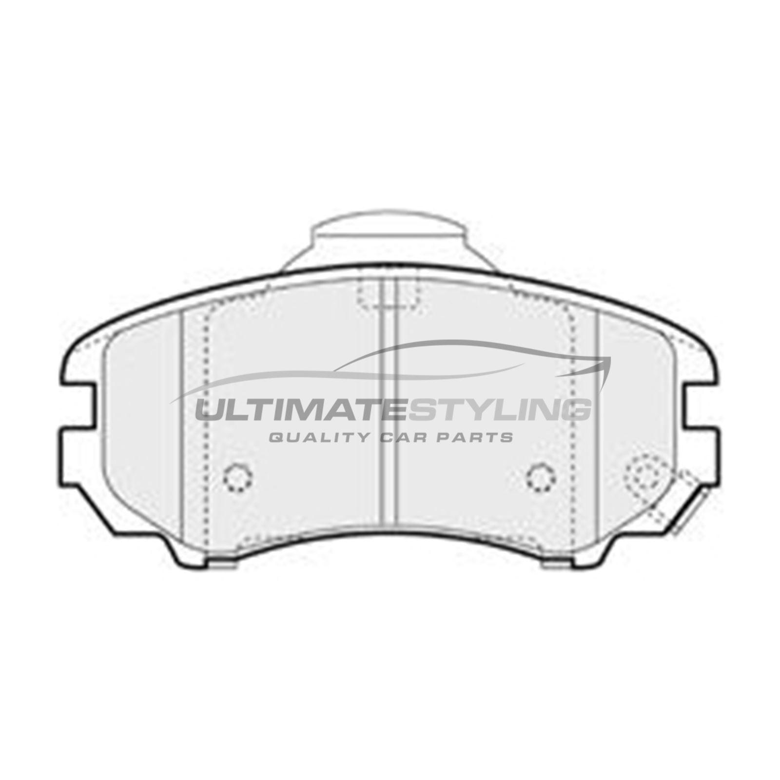 FRONT BRAKE PADS SET FIT HYUNDAI TUCSON 2004-2010 2.0 2.7 CRDI AWD