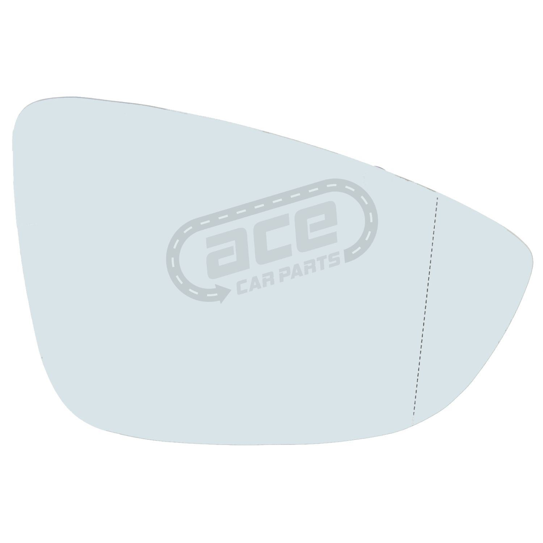 VW Beetle Mk3 Convertible 3//2012-/> Heated Aspherical Mirror Glass Drivers Side
