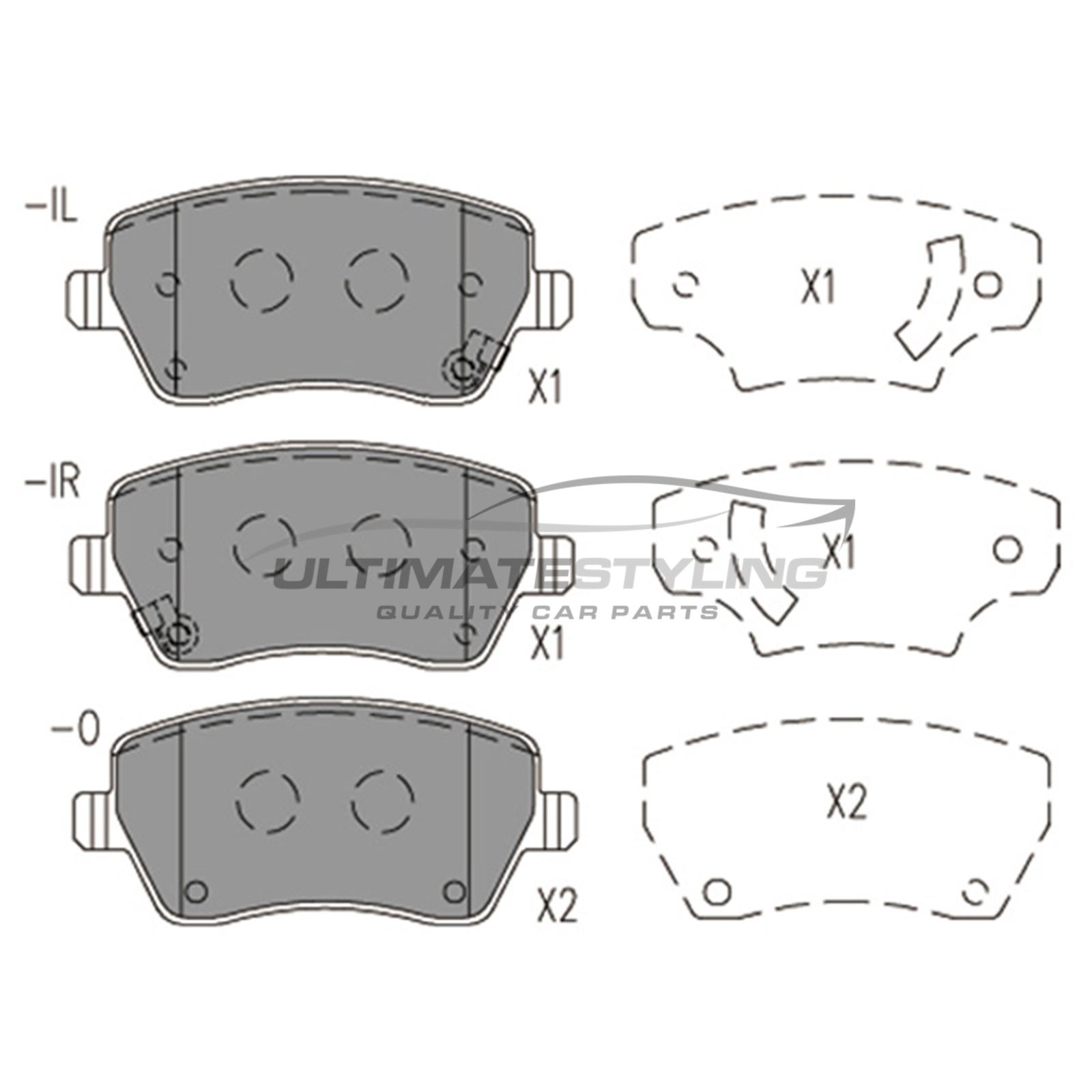 FOR NISSAN MICRA K13 1.2 2010-2017 FRONT BRAKE PADS SET OF 4