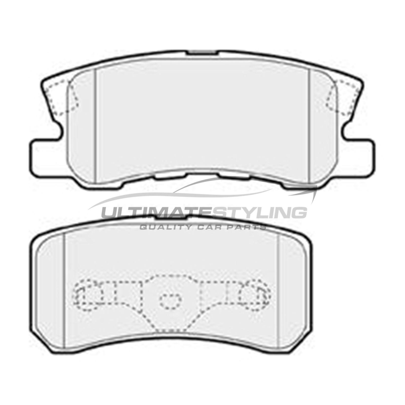 Dodge Caliber Hatchback 2006-2010 1.8 2.0 Rear Brake Pads Kit W111-H45-T15.1