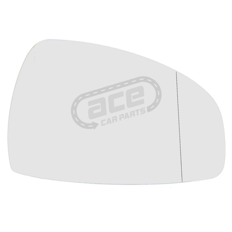 Audi TT 8J Coupe 9//2006-3//2015 Chauffé Asphérique Wing Mirror Glass Drivers Side