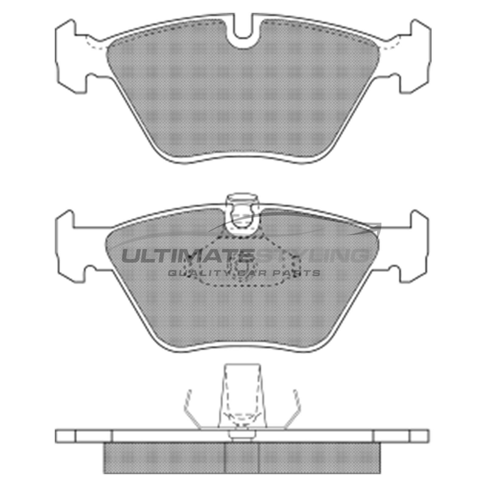 BMW 5 Series E39 Estate 4//1997-8//2004 2.0 2.2 2.5 2.8 3.0 Front Brake Pads Set