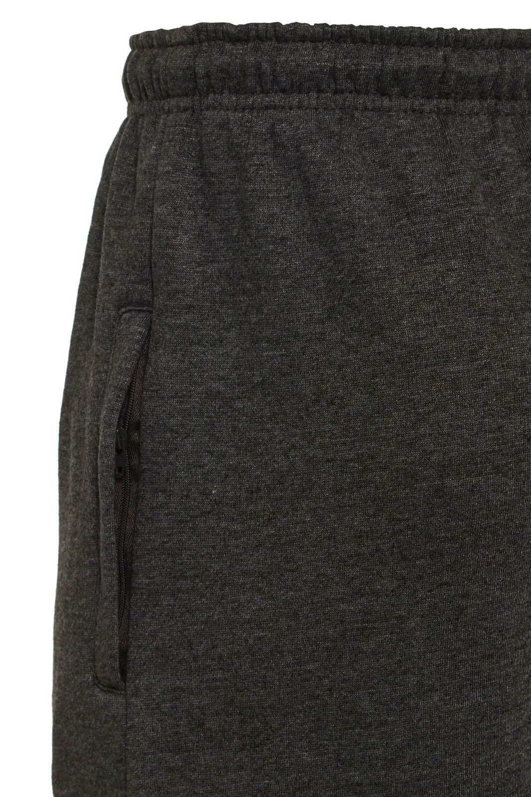 Uomo-Casual-Tinta-Unita-Pantaloni-sportivi-Bottoms-Apri-Hem-Sudore-Pantaloni-Tasche-Con-Zip miniatura 7