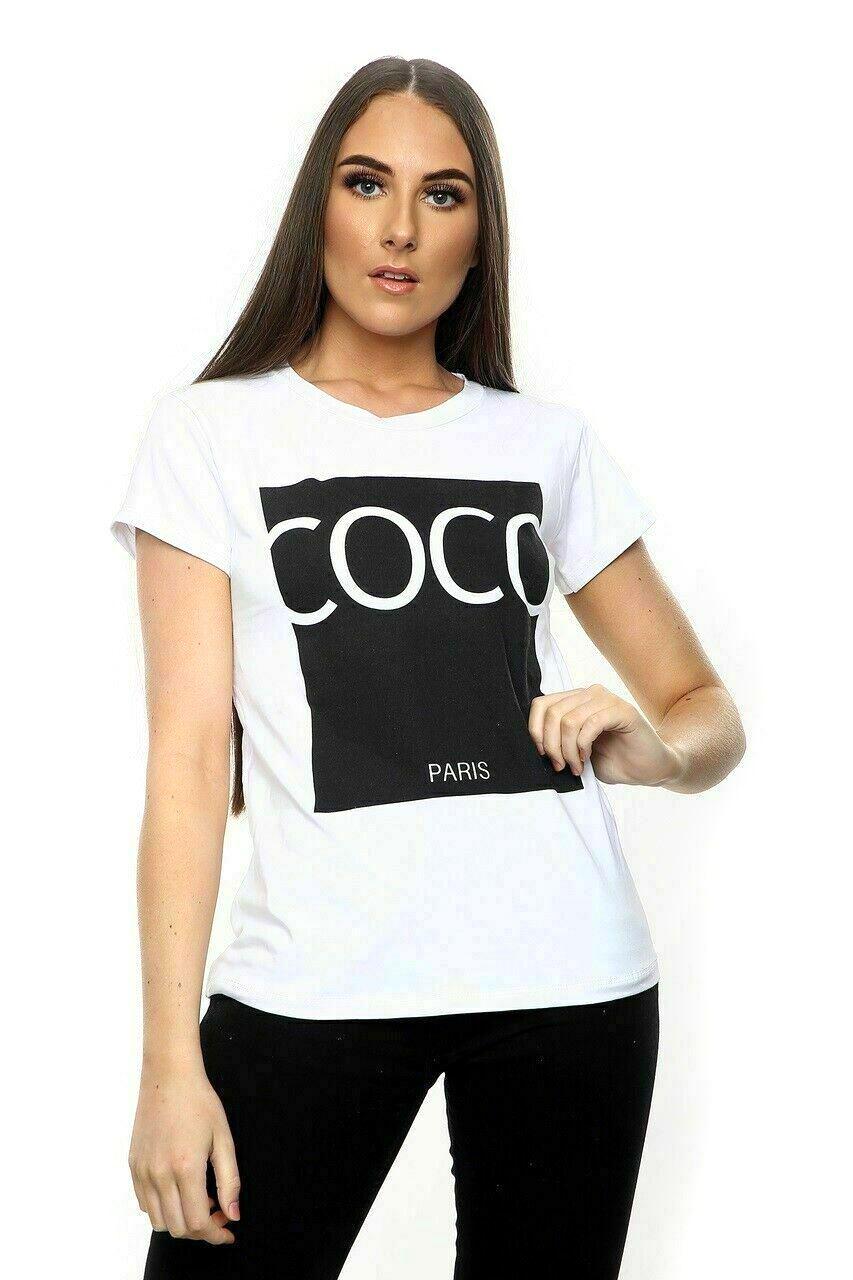 thumbnail 13 - Womens OH HONEY Slogan Fashion T-Shirt Ladies Casual Summer Short Sleeve Tops