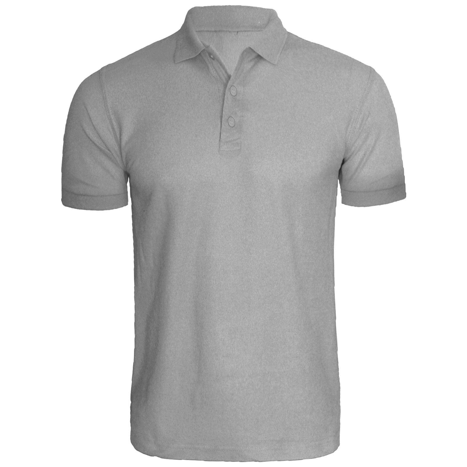 Men's Polo Shirt Mens Summer T-Shirt Short Sleeve Plain ...