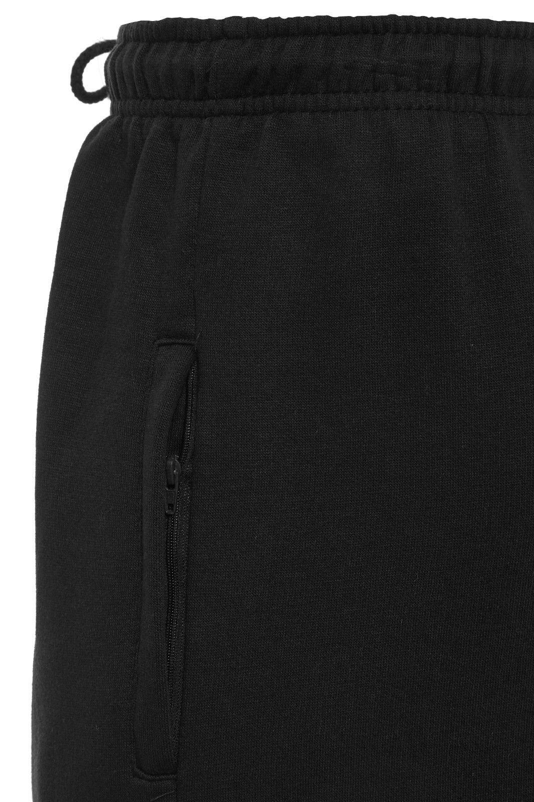 Uomo-Casual-Tinta-Unita-Pantaloni-sportivi-Bottoms-Apri-Hem-Sudore-Pantaloni-Tasche-Con-Zip miniatura 4